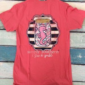 Simply Southern Coral Seahorse Shirt